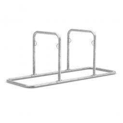 Anlehnsystem, L 2170 mm, verzinkt, Einstellplatz für 4 Fahrräder
