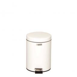 Pedaleimer 5,6 Liter, ØxH 255 x 335 mm, weiß