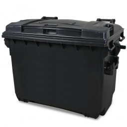 Streugutbehälter, Inhalt: 660 Liter, anthrazitgrau, BxTxH 1360 x 765 x 1235 mm, Polyethylen-Kunststoff (PE-HD)
