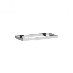 Metallsockel PRO, alusilber, BxH 800x50 mm, mit Bodenausgleichsfüßen