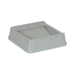 Schwingdeckel für Abfallbehälter, grau, Polyethylen, LxBxH 510x510x160 mm