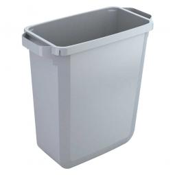 Abfall- und Wertstoffbehälter, eckig, 60 Liter, BxTxH 590x282x600 mm, grau