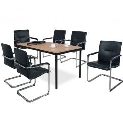 """Tischgruppe """"Komfort"""", bestehend aus: 6 Schwingsesseln und 1 Tisch"""
