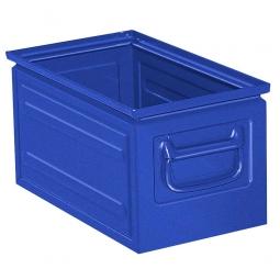 Stapelkasten ST5 aus Stahlblech, 13 Liter, LxBxH 350 x 200 x 200 mm, blau