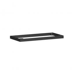 Metallsockel, schwarz, BxH 1000 x 50 mm