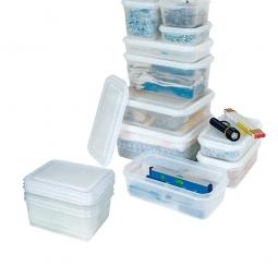 Transparente Aufbewahrungsboxbox mit Deckel, LxBxH 265 x 162 x 65 mm, 1,8 Liter