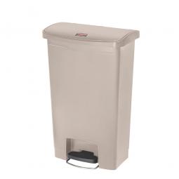 Tretabfalleimer SlimJim, 50 Liter, beige, BxTxH 457x292x719 mm, Polyethylen, Pedal an der Breitseite