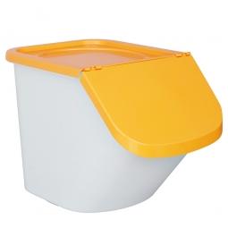 Zutatenbehälter / Zutatenspender, 40 Liter, LxBxH 610 x 430 x 450 mm, weiß/orange