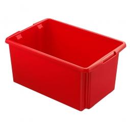 Leichter Drehstapelbehälter, LxBxH 595 x 395 x 280 mm, 51 Liter, rot