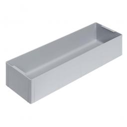 Einsatzkasten für Stapelbehälter 600x400 mm, LxBxH 550 x 174 x 110 mm, Farbe grau
