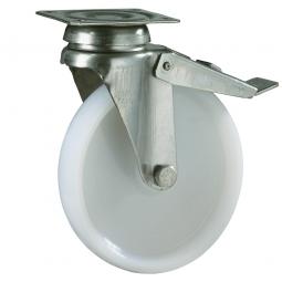 Apparate-Lenkrolle mit Feststellbremse, Rad-ØxB 120x27 mm, Tragkraft 100 kg