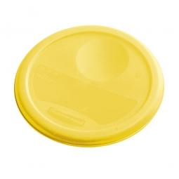 Deckel für runde Lebensmittelbehälter, gelb, HxØ 260 x 25 mm, mit Dichtlippen