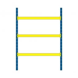 Palettenregal mit 3 Paar Tragbalken für 12 Europaletten, Fachlast 2600 kg/Tragbalkenpaar, BxTxH 2925 x 1100 x 4000 mm