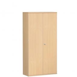 Garderobenschrank PRO, Buche, BxTxH 1000x425x1920 mm, 5 Fachböden, 1 Kleiderstange