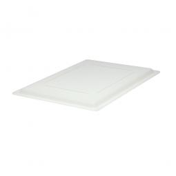 Deckel für Lebensmittel-Beh. 19,5-81 L., naturweiß, LxBxH 660x457x20 mm, Polyethylen
