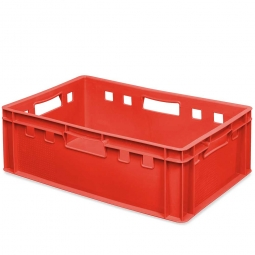 E2-Fleischkasten, LxBxH 600x400x200 mm, PE-HD, 40 Liter, rot