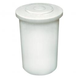 Salzlösebehälter mit Deckel, Inhalt 300 Liter, Außen-ØxH 660/750x1050 mm, natur-transparent