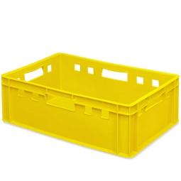 Eurobehälter E2, 4 Durchfassgriffe, LxBxH 600 x 400 x 200 mm, 40 Liter, gelb