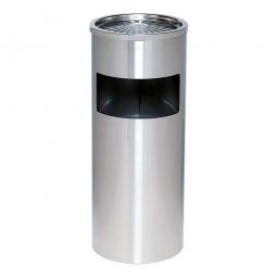 Standascher/Abfallsammler, ØxH 250x610 mm, Abfallbehälter aus Edelstahl