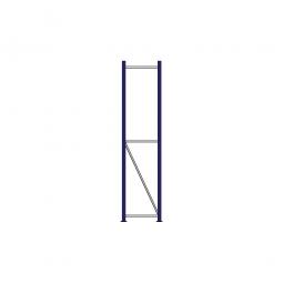 Regalrahmen für Weitspannregale, Stecksystem, fertig montiert, TxH 400 x 2000 mm, Rahmenbreite 40 mm