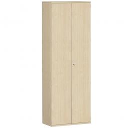 Garderobenschrank PRO, Ahorn, BxTxH 800x425x2304 mm, 2 Fachböden, 1 Kleiderstange