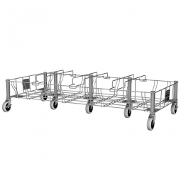 """""""Slim Jim""""  Rollwagen aus Edelsathl, vierfach, BxTxH 1117 x 508 x 228 mm"""