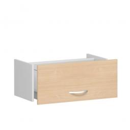 Hängeregistraturschublade FLEX, Buche, Breite 800 mm, hochwertige Metallgriffe in silbermatt