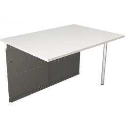 """Anbautisch für Empfangstheke """"OFFICE"""", BxTxH 1160x800x720 mm, Farbe anthrazit/weiß"""