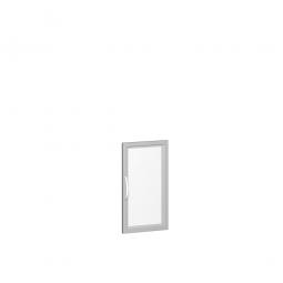 Flügeltür FLEX 2 Ordnerhöhen, mit Glasausschnitt, Breite 400 mm, mit Metallscharnieren und Türdämpfern