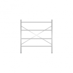 Aluminiumregal mit 4 Gitterböden, Stecksystem, BxTxH 1500 x 500 x 1600 mm, Nutztiefe 480 mm