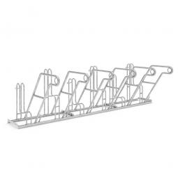 Anlehnparker, L 3000 mm, verzinkt, Einstellplatz für 6 Fahrräder, einseitige Nutzung