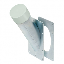 Absaugstutzen , Außen-Ø 100, Innen-Ø 96 mm, Oberfläche glanzverzinkt mit Gegenbauplatte