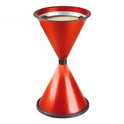 Sicherheits-Standascher, rot, HxØ 770x405 mm, Stahlblech, kunststoffbeschichtet
