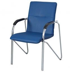 Stapelsessel mit Armlehnen, HxBxT 870x615x540 mm, Farbe blau
