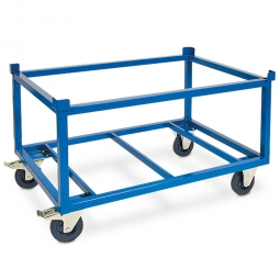 Rahmenroller LxBxH 1210 x 1010 x 700 mm, Tragkraft 750 kg, Rad-Ø 160x50 mm, Vollgummibereifung