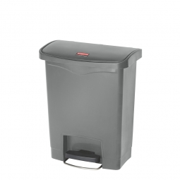 Tretabfalleimer SlimJim, 30 Liter, grau, LxBxH 425x271x536 mm, Polyethylen, Pedal an der Breitseite