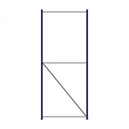 Regalrahmen für Weitspannregale, Stecksystem, fertig montiert, TxH 1200 x 3000 mm, Rahmenbreite 40 mm