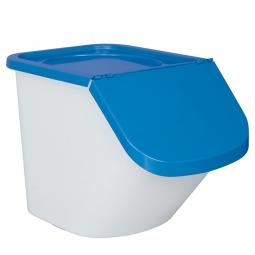 Zutatenbehälter / Zutatenspender,  40 Liter, LxBxH 610 x 430 x 450 mm, weiß/blau