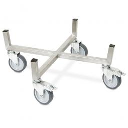 Transportroller für Rundbehälter und Tonnen bis Ø 520 mm aus Edelstahl
