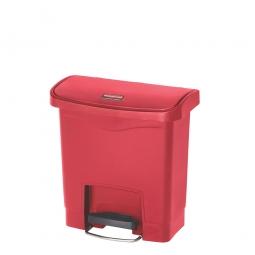 Tretabfalleimer SlimJim, 15 Liter, LxBxH 380 x 230 x 400 mm, rot