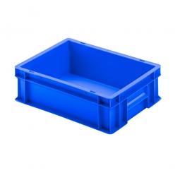 Euro-Geschirrkasten mit 2 Griffleisten, PP, LxBxH 400 x 300 x 120 mm, 11 Liter, blau