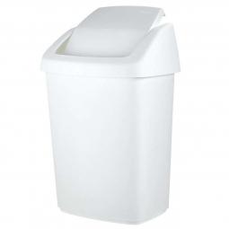 Schwingdeckel-Abfallbehälter, 50 L, weiß