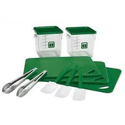12 Teiliges Rubbermaid Küchen-Set, grün