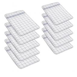 10er-Set Geschirrtücher mit blau/weißem Karomuster, LxB 800 x 600 mm, Zwirnhalbleinen entspr. TB3/G29