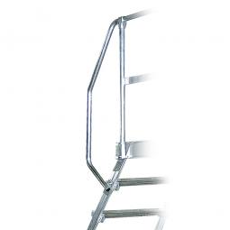 Handlauf aus Aluminium, rechte Seite, beidseitig montierbar, passend für 3 + 4 Stufen