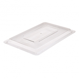 Deckel f. Lebensmittel-Behälter 19,5-81L, glasklar, LxBxH 660x457x20 mm, Polycarbonat