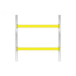 Palettenregal mit 2 Paar Tragbalken für 9 Europaletten, Fachlast 1800 kg/Tragbalkenpaar, BxTxH 2925 x 1100 x 3000 mm