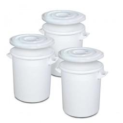 Set-Tonnen, 35 Liter, Ø oben/unten 390/315 mm, Höhe 415 mm, weiß