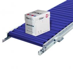 Leicht-Rollenbahn, LxB 1500 x 400 mm, Achsabstand: 62,5 mm, Tragrollen Ø 50 x 2,8 mm