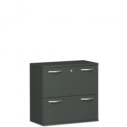 Hängeregistraturschrank PRO, 2OH, graphit, BxTxH 800x425x768 mm